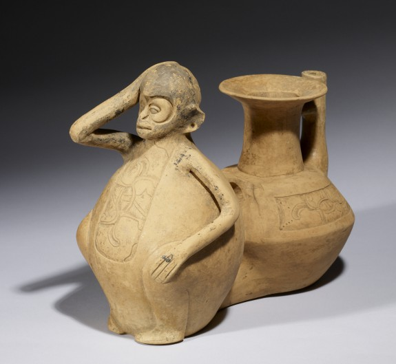 Double-Chambered Vessel with Monkey