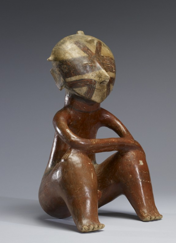 Seated Male Figure with Arms Resting on Upraised Knees