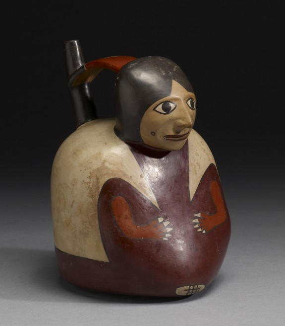 Effigy Vessel of a Seated Figure with Long Tunic