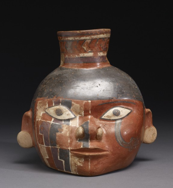 Head Pot with Painted Design