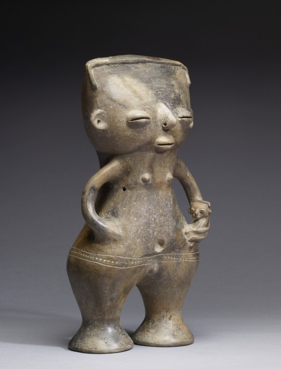 Standing Figure of a Mother and Child