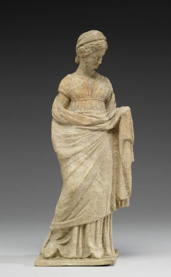 Standing Maiden Wearing Kerchief