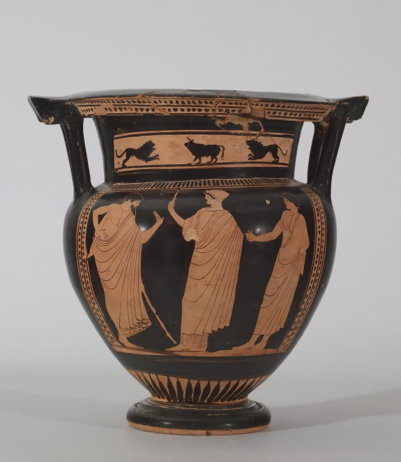Column Krater with Standing Figures