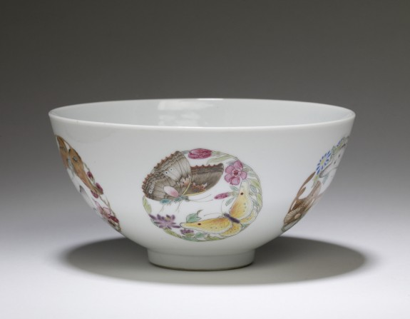 Bowl with Flowers and Butterflies
