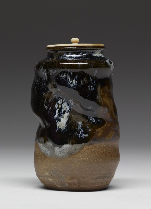 Tea Caddy with Ivory Lid