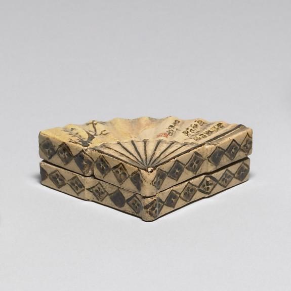 Incense Box in the Shape of a Folding Fan