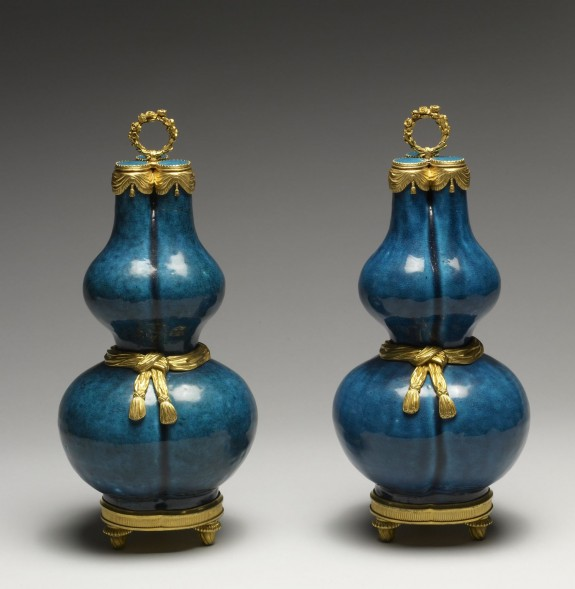 Pair of Gourd-Shaped Vases