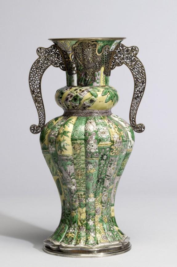 Vase with Floral Sprays