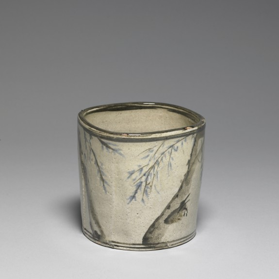 Incense or Charcoal Container with Signatures of Ogata Korin and Ogata Kenzan
