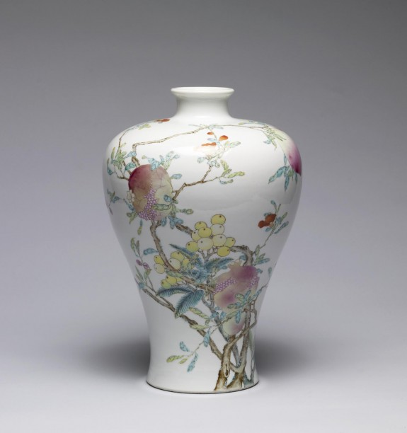 Vase with Pomegranates, Peaches, and Longans
