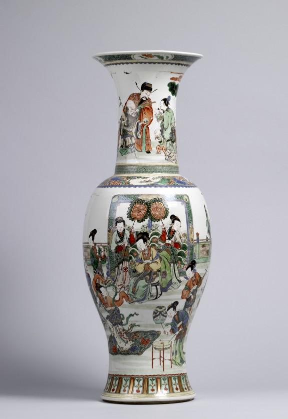 Vase with Court Scene and Three Star Gods