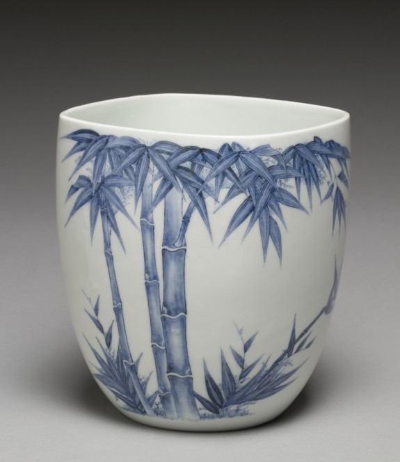 Fresh Water Jar (Mizusashi) with Bamboo