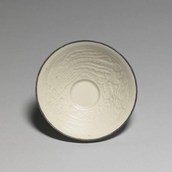 Sake cup (ochoko) with Phoenix design