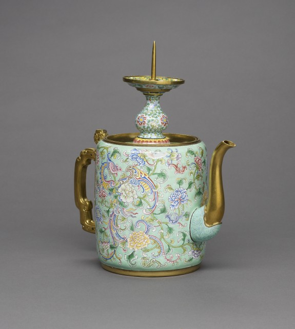 Teapot with Candlestick