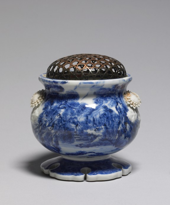 Incense Burner with Landscape Painting