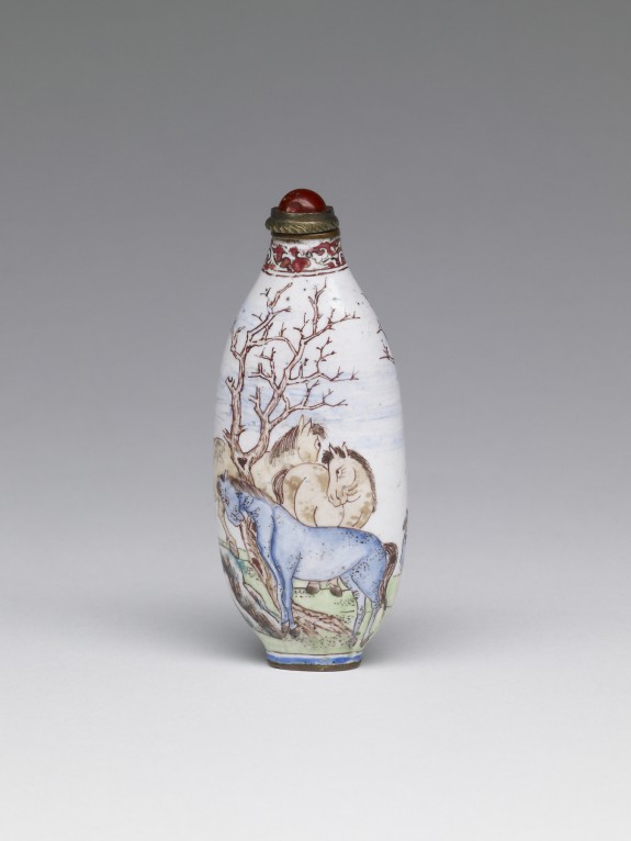 Snuff Bottle with Horses