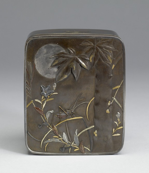 Box with Autumn Flora under a Full Moon