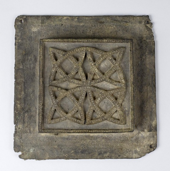 Door Panel with an Interlace Design