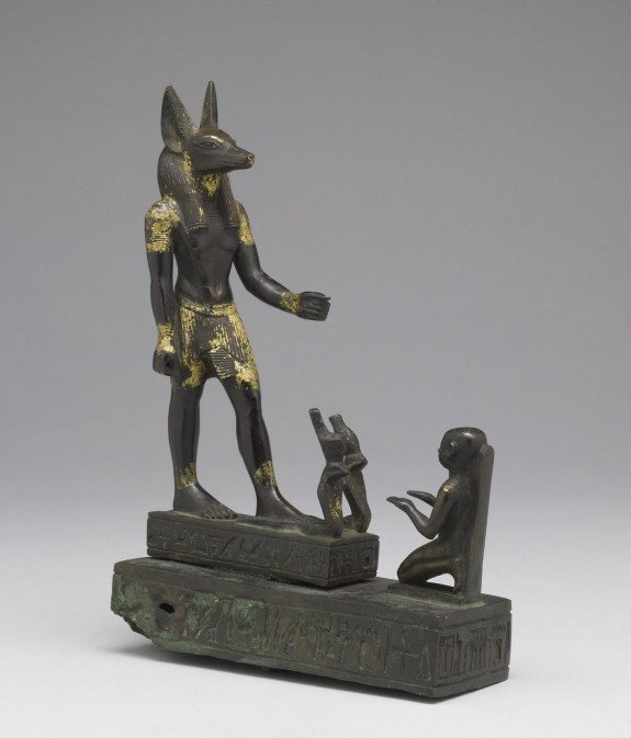 A Worshipper Kneeling Before the God Anubis
