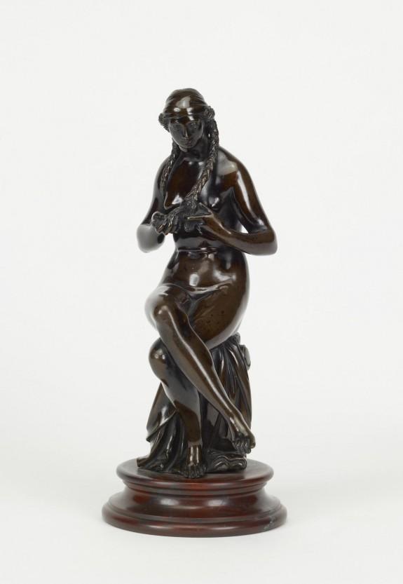 Woman Plaiting Her Hair
