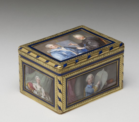 Snuffbox with the Family of Louis XV