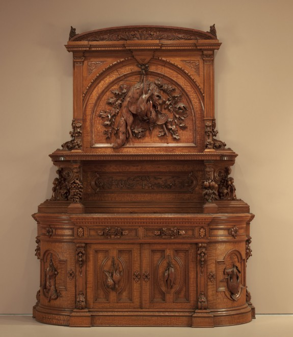 High Sideboard with Hunting Trophies