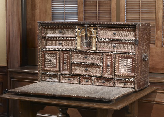 Portable Writing Desk with Geometric Patterns and Moorish Designs