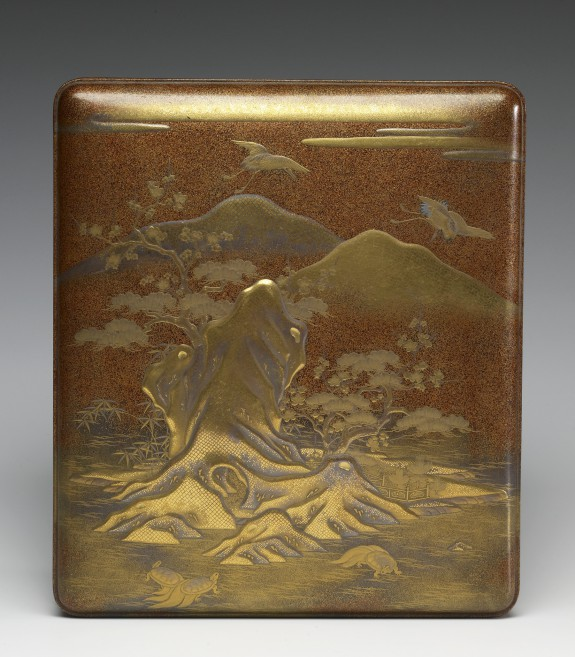 Writing Box with Mountain Scenery