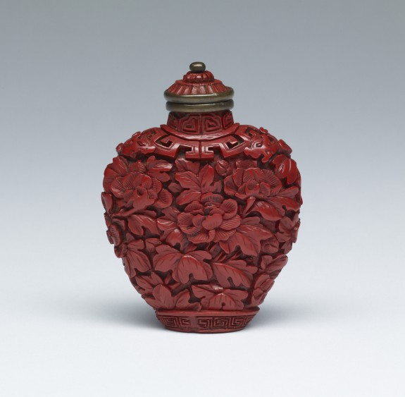 Snuff Bottle with Peonies