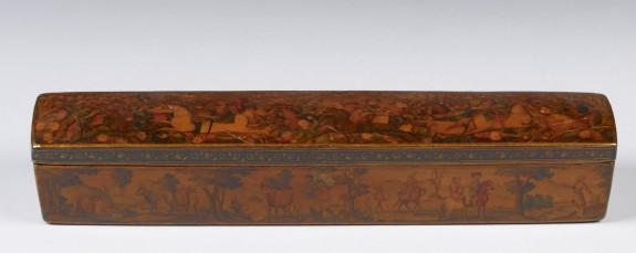 Pen Box with Battle Scenes and Pastoral Scenes