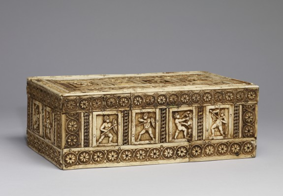 Casket with Warriors in Combat