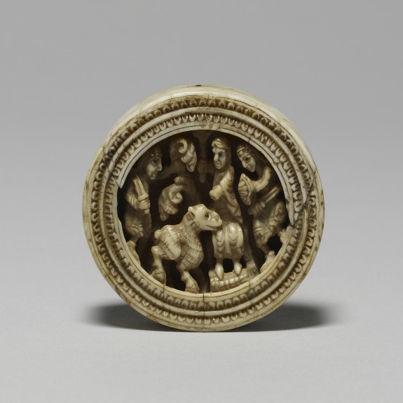 Game Piece with Enthroned Figure