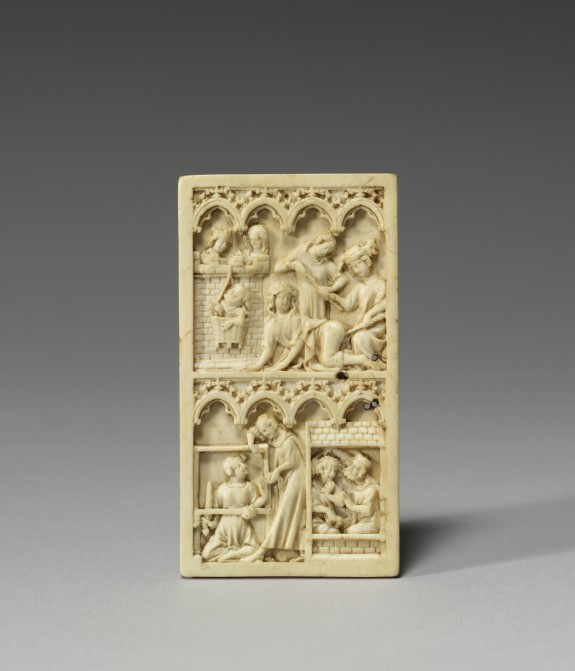 Writing Tablet with Scenes from the Lives of Virgil and Aristotle