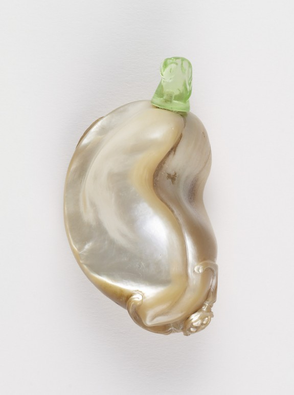 Snuff Bottle with a Bat on a Shriveled Eggplant (?)