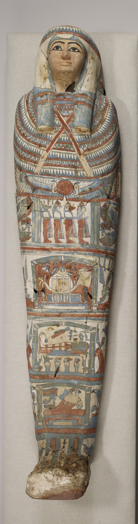 Mummy and Painted Cartonnage of an Unknown Woman