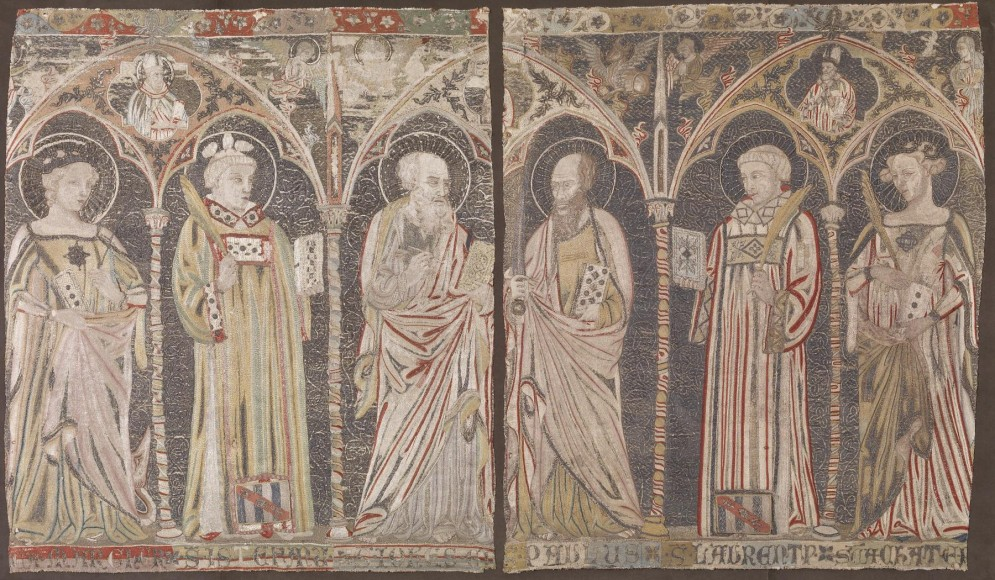 Embroidered Altar Frontal with Standing Saints