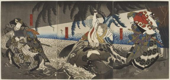 Triptych: Ryuo nishiki-e awase