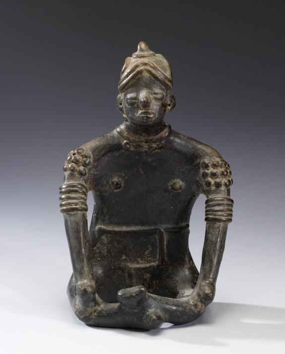 Seated Male Shaman Figure