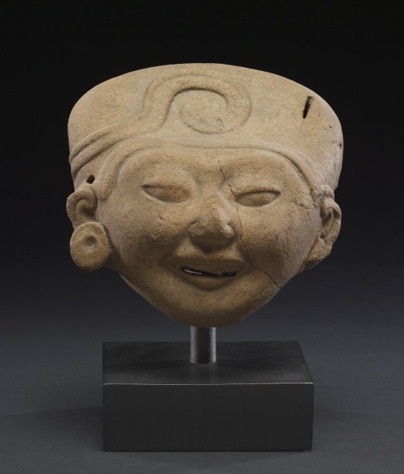 Head from Ritual Performer Figure