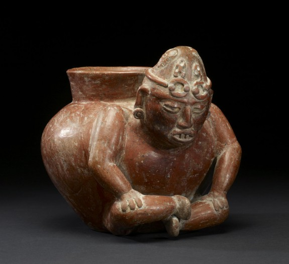 Seated Male Effigy Vessel