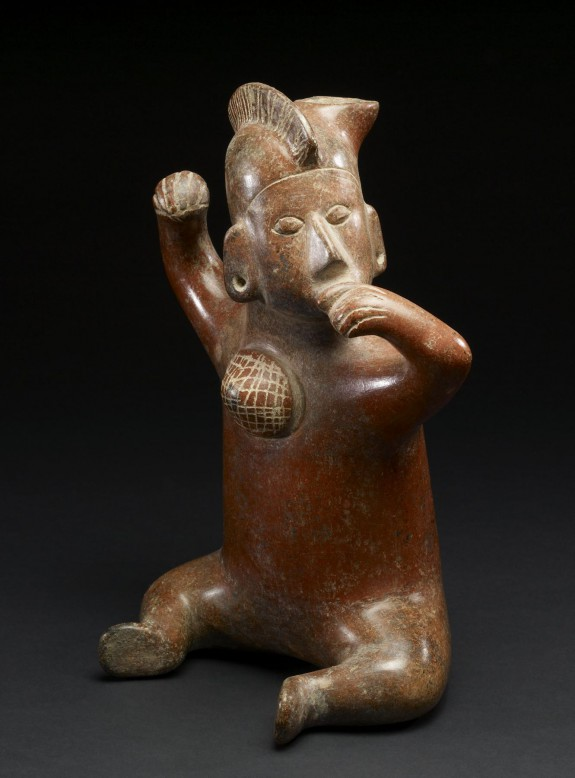 Vessel in the form of a seated man