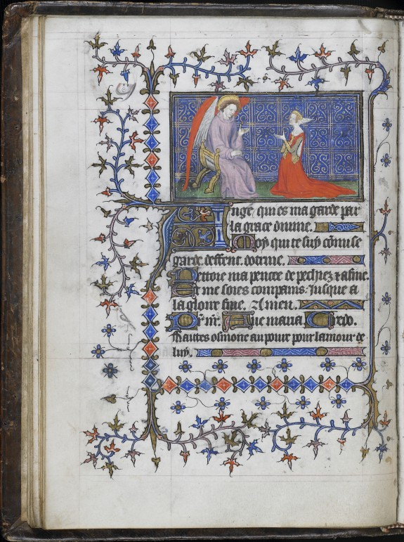Female Manuscript Owner Praying before Guardian Angel