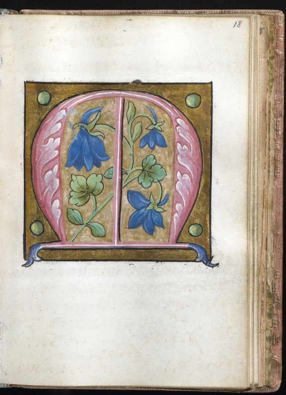 illuminated initial m the walters art museum works of art