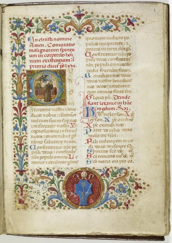Leaf from Conjuratio malignorum spirituum in corporibus hominum existium