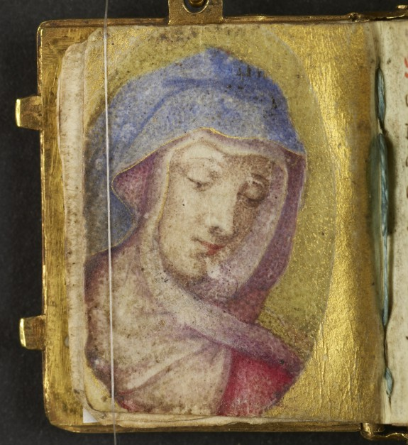 Leaf from Miniature Manuscript Used as a Pendant: Portrait of the Virgin