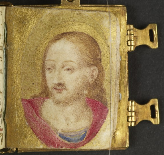 Leaf from Miniature Manuscript Used as a Pendant: Portrait of Christ