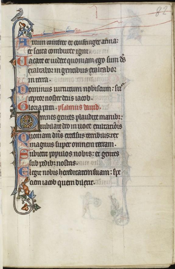 Leaf from Fieschi Psalter: Psalter Text
