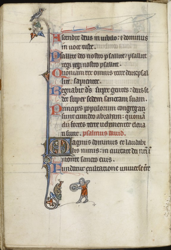 Leaf from Fieschi Psalter; Psalter Text