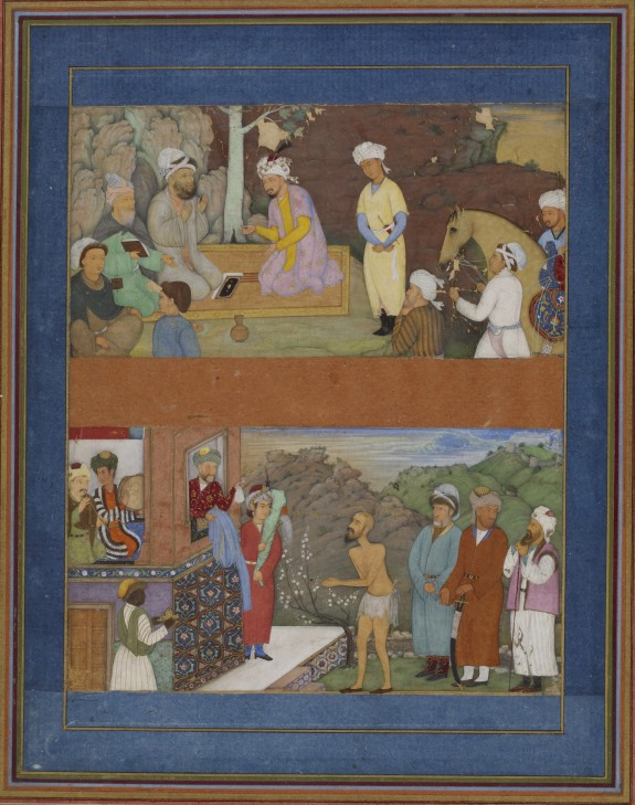 Two Illustrations from a Manuscript of Gulistan by Sadi