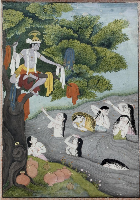 Krishna Steals the Gopis' Clothing